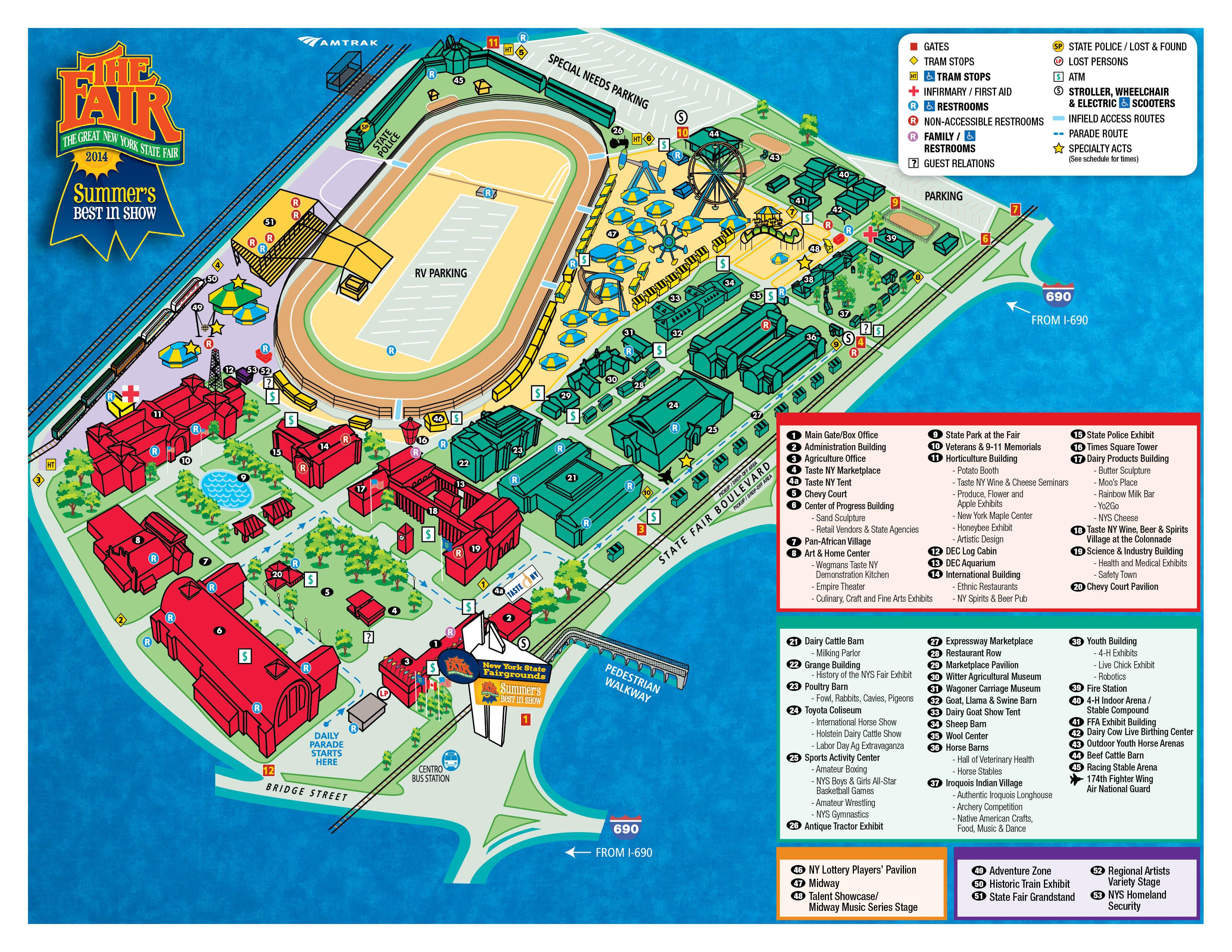 Nys Fair Horse Show 2020.Fair Map